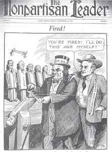 Cartoon from the Nonpartisan Leader.